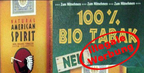 Aktiv Rauchfrei Werbung Fur Bio Tabak Illegal